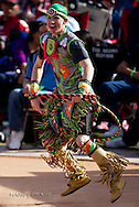 Champion Christian Hazell from Calgary, Alberta, Canada,  performs his winning dance in the Teen division (ages 13-18) finals at the 21st Annual Heard Museum World Hoop Dance Championship on February 6, 2011, in Phoenix, Arizona.  .Christian's sister, Chantika Hazell, won third.