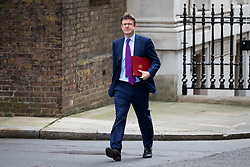 © Licensed to London News Pictures. 29/01/2018. London, UK. Secretary of State for Business, Energy and Industrial Strategy Greg Clarke arriving in Downing Street to attend a Brexit meeting this morning. Photo credit : Tom Nicholson/LNP