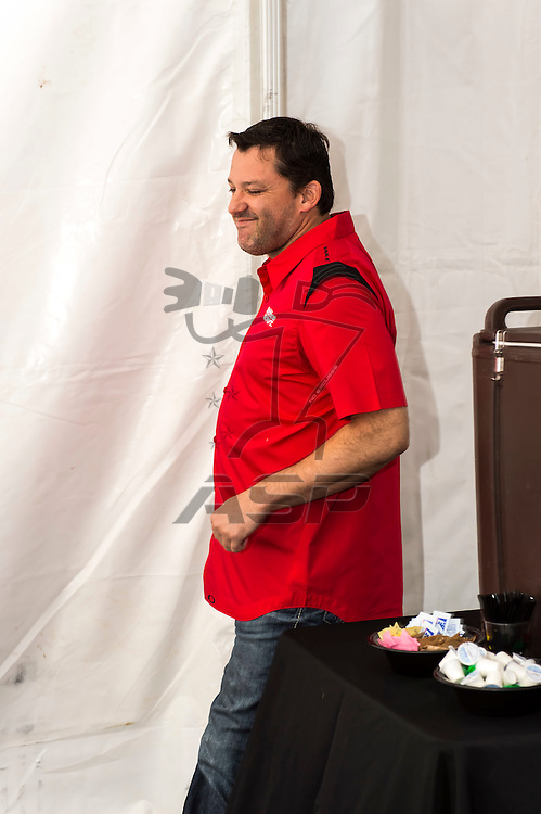 Brooklyn, MI - JUN 17, 2012: Tony Stewart meet-and-greet, prior to the running of the Quicken Loans 400 race at the Michigan International Speedway in Brooklyn, MI.