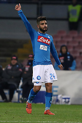 December 19, 2017 - Naples, Italy - Lorenzo Insigne of SSC Napoli celebrates after scoring the 1-0 goal during the TIM Cup match between SSC Napoli and Udinese Calcio at Stadio San Paolo on December 19, 2017 in Naples, Italy. (Credit Image: © Paolo Manzo/NurPhoto via ZUMA Press)