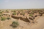 India, Rajasthan, Kuldhara village ruins near Jaisalmer. One of 84 villages inhabited by the prosperous, hardworking Paliwals. Established by the Kuldhar sub-caste of Paliwal Brahmins in the year 1291