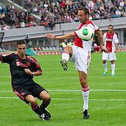 Amsterdam, 03-07-2013. Oud-Ajaxied Sjaak Swart wordt 75 jaar en krijgt een jubileumwedstrijd in het Olympisch Stadion te Amsterdam. Vele oud-Ajax gedienden waren uitgenodigd. Mr. Ajax - Sjaak Swart maakte deel uit van oud-Ajax elftal. Foto: John van 't Schip