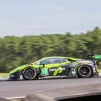 Alton, VA - Aug 26, 2016:  The Change Racing Lamborghini Huracan GT3 races through the turns at the Oak Tree Grand Prix at Virginia International Raceway in Alton, VA.
