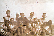deteriorating group portrait Japan ca 1940s
