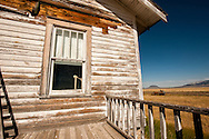 Square Butte, Round Butte, deserted ranch house, outside Square Butte Montana