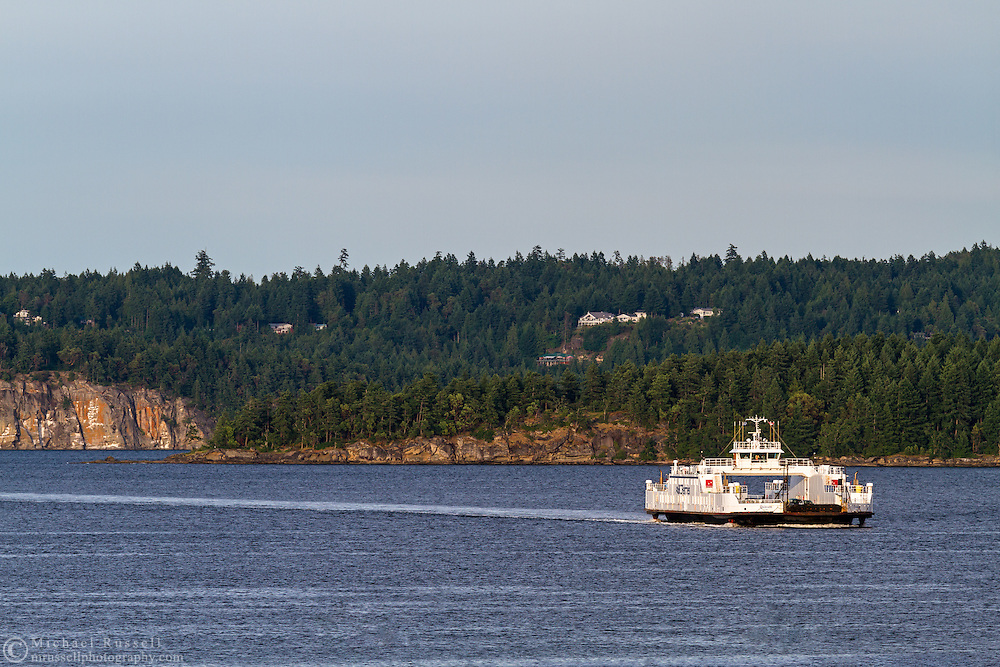 "BC Ferry ""Quinsam"" entering Nanaimo Harbour from Gabriola Island -  in Nanaimo, British Columbia, Canada"