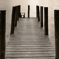 A small timber jetty