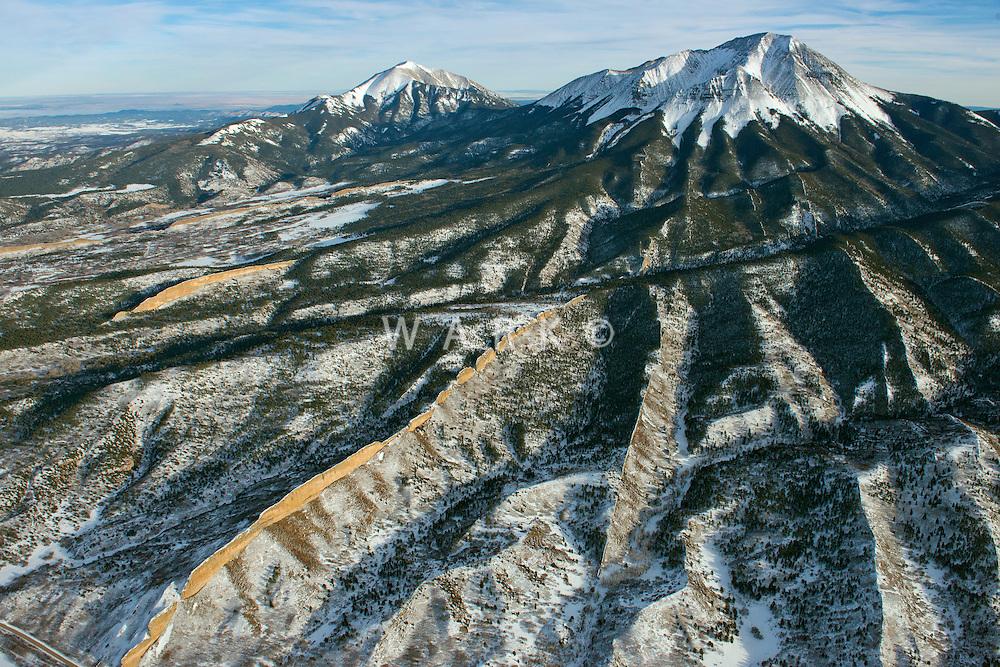 Spanish Peaks, looking northeast. Nov 2013