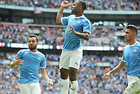 Football - 2019 FA Community Shield - Liverpool vs. Manchester City<br /> <br /> Raheem Sterling of Man City celebrates his first half goal, at Wembley Stadium.<br /> <br /> COLORSPORT/ANDREW COWIE
