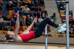 Douwe Amels in action on the high jump section<br /> during the Dutch Indoor Athletics Championship on February 22, 2020 in Omnisport De Voorwaarts, Apeldoorn