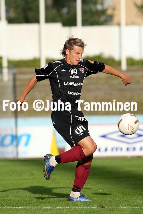 30.08.2007, Urheilukeskus, Lahti, Finland..Veikkausliiga 2007 - Finnish League 2007.FC Lahti - FC KooTeePee.Ville Taulo - FC Lahti.©Juha Tamminen.....ARK:k