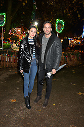 LUCY WATSON and JAMES DUNMORE at the Hyde Park Winter Wonderland - VIP Preview Night, Hyde Park, London on 17th November 2016.