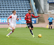 Dundee&rsquo;s Kane Hemmings and Ross County&rsquo;s Jackson Irvine - Dundee v Ross County - Ladbrokes Premiership at Dens Park<br /> <br />  <br />  - &copy; David Young - www.davidyoungphoto.co.uk - email: davidyoungphoto@gmail.com