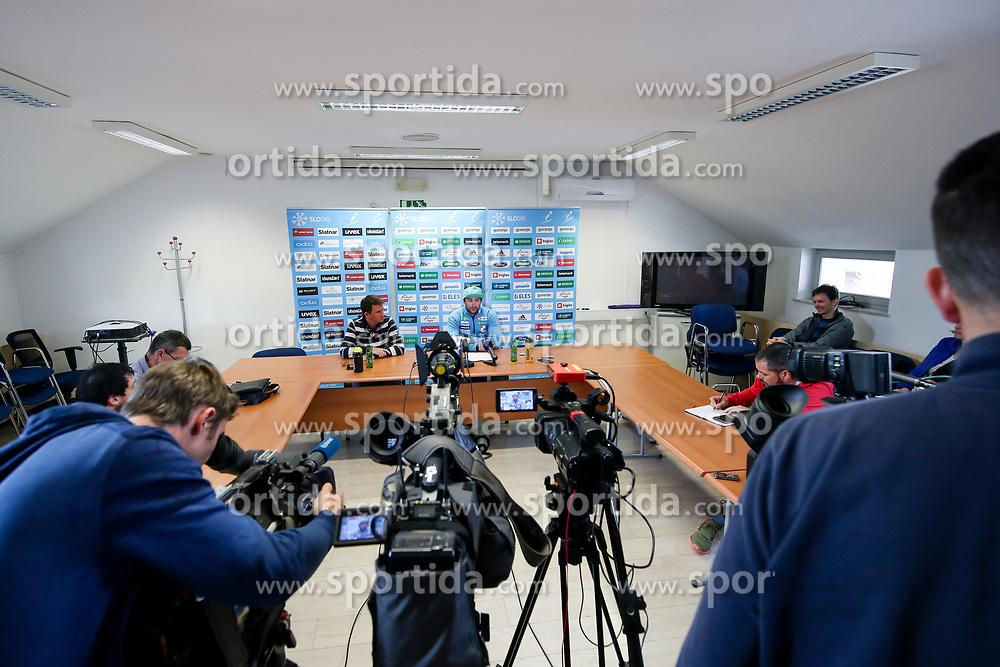 Tomi Trbovc and Gorazd Bertoncelj at presentation of new nordic ski team coach Gorazd Bertoncelj at press conference of Slovenska smucarska zveza, on April 5, 2018 in Smucarska zveza Slovenije, Ljubljana, Slovenia. Photo by Matic Klansek Velej / Sportida