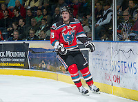 KELOWNA, CANADA - NOVEMBER 28:   Colton Sissons #15 of the Kelowna Rockets skates on the ice against the Tri City Americans at the Kelowna Rockets on November 28, 2012 at Prospera Place in Kelowna, British Columbia, Canada (Photo by Marissa Baecker/Shoot the Breeze) *** Local Caption ***