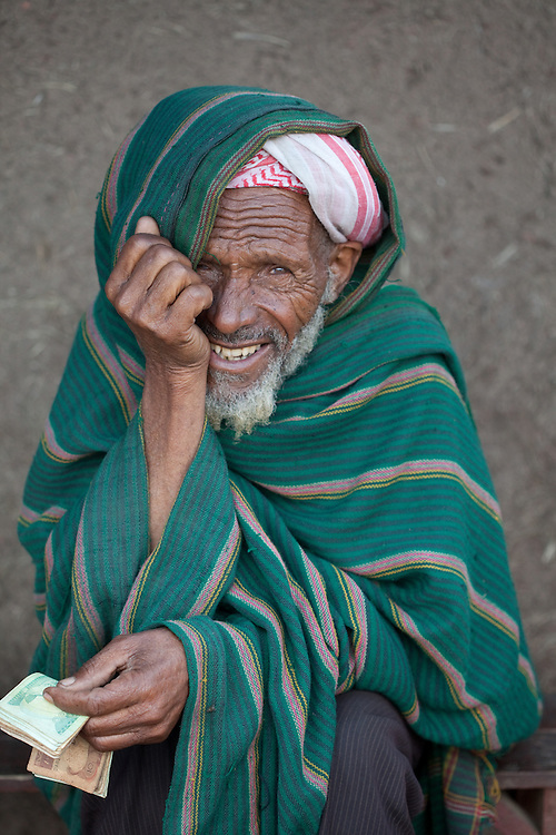A smiling muslim man in Dinsho, a small town nestled in the Bale Mountains of Ethiopia