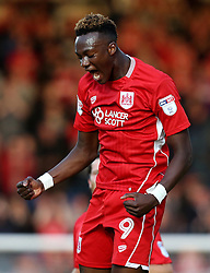 Tammy Abraham of Bristol City celebrates scoring a goal against Wycombe Wanderers in the EFL League Cup - Mandatory by-line: Robbie Stephenson/JMP - 09/08/2016 - FOOTBALL - Adams Park - High Wycombe, England - Wycombe Wanderers v Bristol City - EFL League Cup