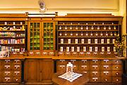 Medicine in the historic Gradska ljekarna pharmacy, old town Gradec, Zagreb, Croatia