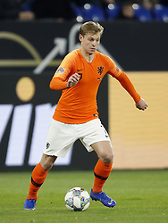 Frenkie de Jong of Holland during the UEFA Nations League A group 1 qualifying match between Germany and The Netherlands at the Veltins Arena on November 19, 2018 in Gelsenkirchen, Germany