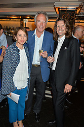 Left to right, LISA ARMSTRONG, RICHARD CORFIELD and PIERRE LA GRANGE at the Style for Soldiers dinner held at Le Caprice, 20 Arlington Street, London on 24th May 2016.
