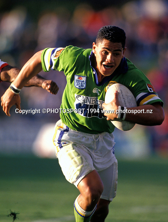 Raiders Ruben Wik. Winfield Cup, Grand Final, Canberra Raiders v Canterbury Bulldogs, 1994. Photo: Andrew Cornaga/PHOTOSPORT