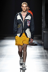 Milan fashion man spring summer 2019. Hunting World Fashion Show in the picture: model