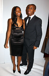 Singer JAMELIA and DARREN BYFIELD at the Moet & Chandon Fashion Tribute 2005 to Matthew Williamson, held at Old Billingsgate, City of London on 16th February 2005.<br /><br />NON EXCLUSIVE - WORLD RIGHTS