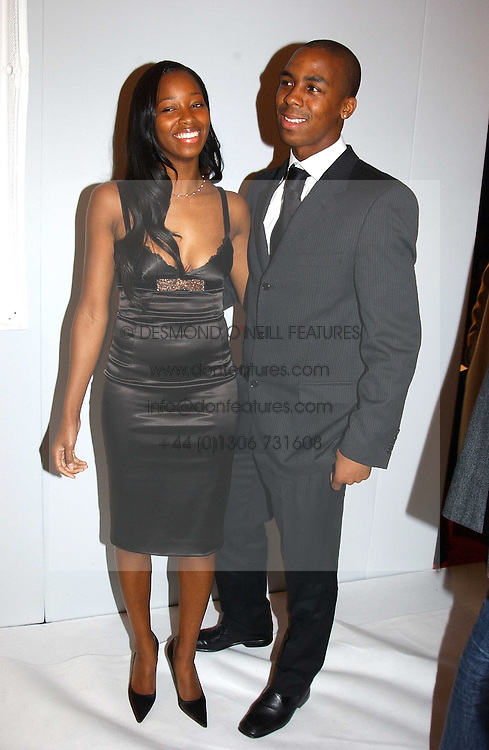 Singer JAMELIA and DARREN BYFIELD at the Moet & Chandon Fashion Tribute 2005 to Matthew Williamson, held at Old Billingsgate, City of London on 16th February 2005.<br />