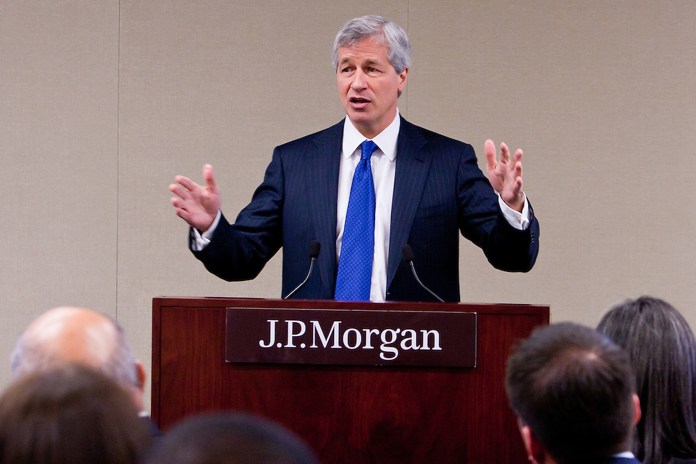 New America Alliance 11th Wall Street Summit opening lucheon at JPMorgan Chase & Co. Keynote speaker, Jamie Dimon, CEO & Chairman. Jamie Diamond addresses the New America Alliance during a lunch held at J.P. Morgan Chase headquarters in New York.
