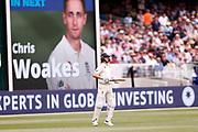 Chris Woakes comes onto the field during day three of the Australia v England fourth test at the Melbourne Cricket Ground, Melbourne, Australia on 28 December 2017. Photo by Mark  Witte.