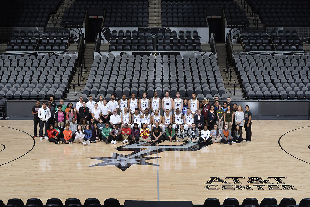 SAN ANTONIO TX - March 19:   XXX of the San Antionio Spurs against the Golden State Warriors on March 19 at the AT&T Center in San Antonio, Texas.  NOTE TO USER: User expressly acknowledges and agrees that, by downloading and or using this photograph, User is consenting to the terms and conditions of the Getty Images License Agreement. Mandatory Copyright Notice: Copyright 2017 NBAE (Photo by Mark Sobhani/NBAE via Getty Images)