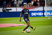 PSG Neymar warms up prior to the French championship L1 football match between Paris Saint-Germain (PSG) and Caen on August 12th, 2018 at Parc des Princes, Paris, France - Photo Geoffroy Van der Hasselt / ProSportsImages / DPPI