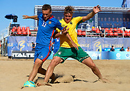 CATANIA, ITALY - AUGUST 17: Euro Beach Soccer League match between Lithuania and Moldova on August 17, 2019 in Catania, Italy. (Photo by Quality Sport Images)