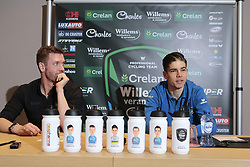 March 30, 2018 - France - BEVEREN, BELGIUM - MARCH 30 : ELIJZEN Michiel  (NED) Ass. Sports Director of Veranda's Willems - Crelan and VAN AERT Wout  (BEL) of Veranda's Willems - Crelan pictured during a press conference prior the 102th Ronde Van Vlaanderen by Flanders Classics at the Biznis Hotel on March 30, 2018 in Beveren, Belgium, 30/03/18 (Credit Image: © Panoramic via ZUMA Press)