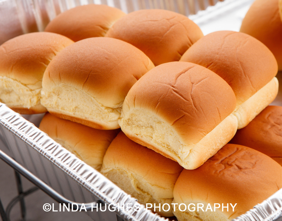 Bread Buns at an Outdoor Event