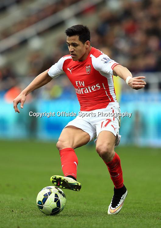 21 March 2015 - Barclays Premier League - Newcastle United v Arsenal - Alexis Sanchez of Arsenal - Photo: Marc Atkins / Offside.
