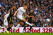 Leeds United midfielder Kalvin Phillips (23) passes the ball during the EFL Sky Bet Championship match between Leeds United and Brentford at Elland Road, Leeds, England on 21 August 2019.