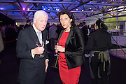 SIR BENJAMIN SLADE; IRINA ALEXEEVA, Preview for The London Motor Show, Battersea Evolution. London. 5 May 2016