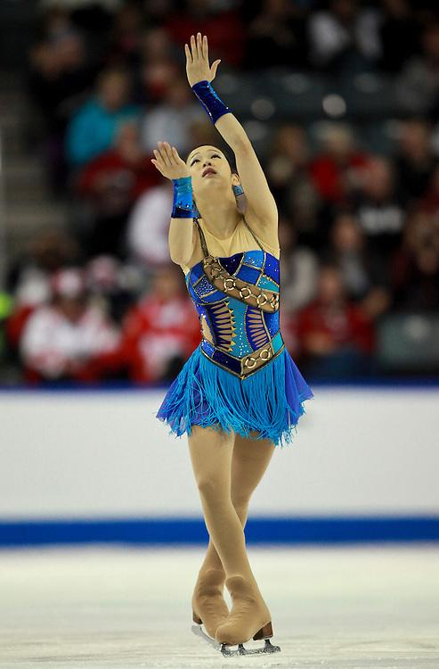 20101030 -- Kingston, Ontario -- Haruka Imai of Japan skates her free skate at Skate Canada International in Kingston, Ontario, Canada, October 30, 2010. <br /> AFP PHOTO/Geoff Robins