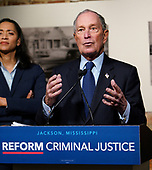 Presidential candidate  Mike Bloomberg-Criminal Justice Reform Jackson MS