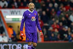 Heurelho Gomes of Watford stands waiting for a corner - Mandatory by-line: Jason Brown/JMP - 21/01/2017 - FOOTBALL - Vitality Stadium - Bournemouth, England - Bournemouth v Watford - Premier League