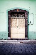 Beautiful Door on the Street in Puebla