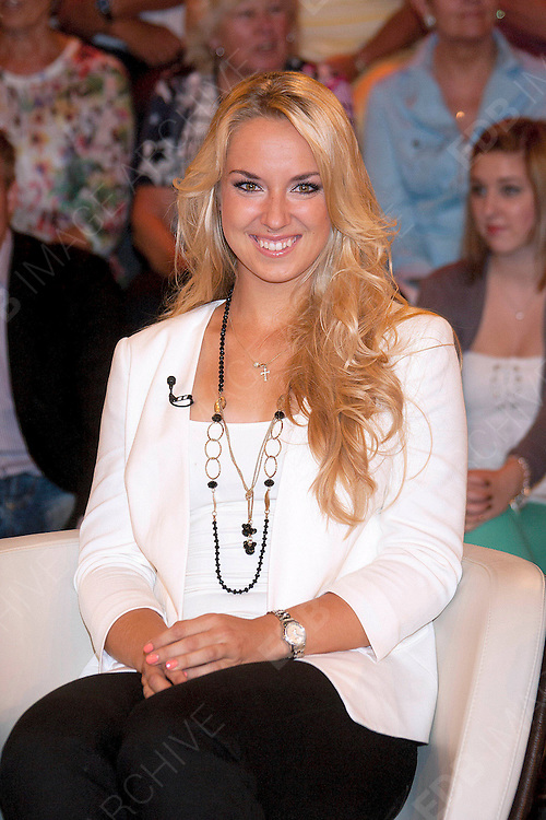 10.JULY.2012. HAMBURG<br /> <br /> TENNIS PLAYER SABINE LISICKI ATTENDS THE MARKUS LANZ SHOW IN HAMBURG<br /> <br /> BYLINE: EDBIMAGEARCHIVE.CO.UK<br /> <br /> *THIS IMAGE IS STRICTLY FOR UK NEWSPAPERS AND MAGAZINES ONLY*<br /> *FOR WORLD WIDE SALES AND WEB USE PLEASE CONTACT EDBIMAGEARCHIVE - 0208 954 5968*