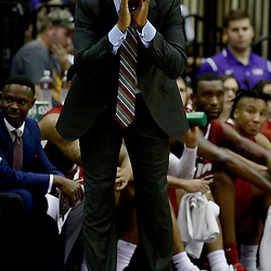 Jan 14, 2017; Baton Rouge, LA, USA; Alabama Crimson Tide head coach Avery Johnson reacts during the first half of a game against the LSU Tigers at the Pete Maravich Assembly Center. Mandatory Credit: Derick E. Hingle-USA TODAY Sports