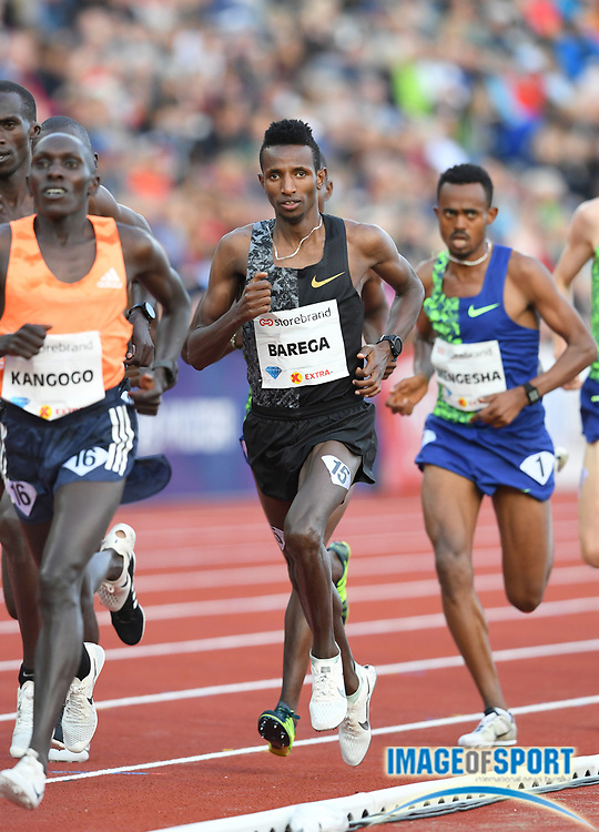 Selemon Barega (ETH) wins the 3,000m in 7:32.17 during the 54th  Bislett Games in an IAAF Diamond League meet in Oslo, Norway, Thursday, June 13, 2019. (Jiro Mochizuki/Image of Sport)