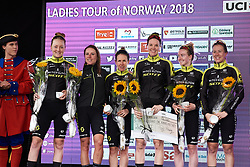 Mitchelton Scott achieve second place at Ladies Tour of Norway 2018 Team Time Trial, a 24 km team time trial from Aremark to Halden, Norway on August 16, 2018. Photo by Sean Robinson/velofocus.com