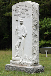 July 2007:1st Ohio Light Artillary, Battery B.  Monuments of Valor at the Chickamauga National Park in Georgia. There are hundreds of memorials and markers throughout the park.  They tell the story of the battle, show positioning, and honor those who were engaged in the battle. Attractions near Chattanooga Tennessee. Point Park, National Park Service - Lookout Mountain, TN.