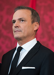 "03.06.2019, Präsidentschaftskanzlei, Wien, AUT, Angelobung der Übergangsregierung, im Bild Finanzminister Eduard Müller // Austrian Finance Minister Eduard Mueller during inauguration of the provisional government after ""Ibiza Affair"" at Federal Presidents Office in Vienna, Austria on 2019/06/19, EXPA Pictures © 2019, PhotoCredit: EXPA/ Michael Gruber"