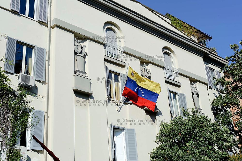Roma 17 Aprile 2013.Ambasciata del Venezuela in Italia