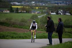 Anna Christian (GBR) of Drops rides in the prologue of 2019 Festival Elsy Jacobs, a 2.7 km time trial from Kahler to Garnich, Luxembourg on May 10, 2019. Photo by Balint Hamvas/velofocus.com